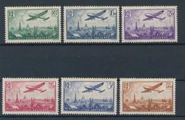 FRANCE - POSTE AERIENNE N°YT 8/13 NEUFS* AVEC CHARNIERE - COTE YT : 170€ - 1936 - Luftpost