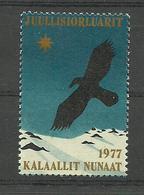 Greenland 1977 Christmas, Bird Of Pray  , MNH(**) - Neufs
