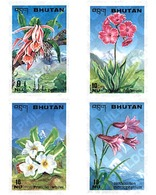 Ref. 81445 * MNH * - BHUTAN. 1995. FLOWERS . FLORES - Bhután