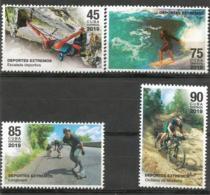 Cuba 2019 Extreme Sports (Mountain Escalade, Surf, Longboard And Montain Cycling) 4v MNH - Patinaje Artístico