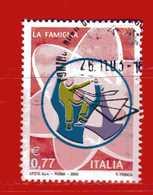 Italia °- Anno 2003 - Le ISTITUZIONI, La FAMIGLIA. Unif. 2747.   USATO. - 2001-10: Usados