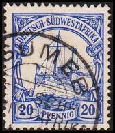 1900. DEUTSCH-SÜDWESTAFRIKA 20 Pf. Kaiserjacht SMS Hohenzollern. TSUMEB. (Michel 14) - JF302989 - Colony: German South West Africa