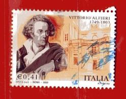 Italia °- Anno 2003 - VITTORIO ALFIERI. Unif. 2749.   USATO. - 2001-10: Usados
