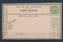 COLONIES GENERALES - N°YT 2 NEUF SUR CARTE POSTALE ILE DE LA REUNION - 1859/65 - Aigle Impérial