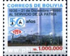 Ref. 292435 * MNH * - BOLIVIA. 1986. CINCUENTENARIO DE LA REFINERIA PETRPLERA - Bolivie