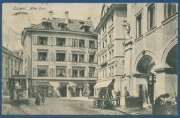 Luzern Hotel Post, Gelaufen 1909 Marke Fehlt (AK2585) - LU Lucerne