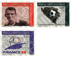 Ref. 65290 * MNH * - BOSNIA-HERZEGOVINA. 1998. FOOTBALL WORLD CUP. FRANCE-98 . COPA DEL MUNDO DE FUTBOL. FRANCIA-98 - Coppa Del Mondo