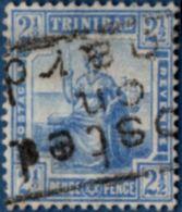 Trinidad 1809 2½ D Blue Shipmail Cancel Posted On Board - Trinité & Tobago (...-1961)