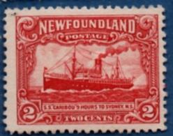 Newfoundland 1928, 2c MH - SS Caribou Ship Line To Sydney - Newfoundland