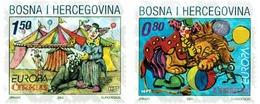 Ref. 98930 * MNH * - BOSNIA-HERZEGOVINA. Croatian Adm.. 2002. EUROPA CEPT. CIRCUS . EUROPA CEPT 2002 - EL CIRCO - Sellos