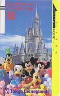 Télécarte Ancienne Japon / 110-6379 A - DISNEY - MICKEY MINNIE DONALD - Japan Front Bar Phonecard - Balken TK - Japon