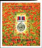 5958BIS )  Seconda GUERRA MONDIALE RICORDO Non Dimentichiamolo/War Medal Foglio Di Francobolli (1995) Kiribati-MNH** - Kiribati (1979-...)