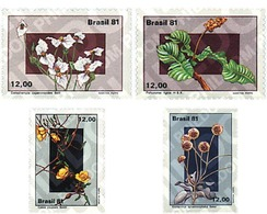 Ref. 98254 * MNH * - BRAZIL. 1981. BRAZILIAN FLORA . FLORA BRASILEÑA - Brésil