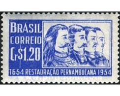 Ref. 168516 * MNH * - BRAZIL. 1954. TRICENTENARIO DE LA REPRESA DE PERNAMBOUC AUXILIAR DE HOLLANDAIS - Brasilien