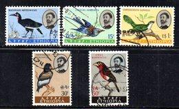 ETP320 - ETIOPIA 1962 ,  Serie Yvert N. 388/392  Usata (2380A) Uccelli Birds - Etiopia