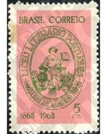 Ref. 170832 * MNH * - BRAZIL. 1968. CENTENARIO DEL LICEO LITERARIO PORTUGUES DE RIO DE JANEIRO - Brazil