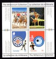 Canada 1999 2000 R The Millennium Collection Sc#1819 MNH Souvenir Sheet Ice-hockey Sport Cirque Du Soleil Circus Horses - Hockey (Ice)