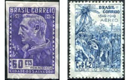 Ref. 206489 * MNH * - BRAZIL. 1949. 400 ANIVERSARIO DE LA CIUDAD DE SALVADOR DE BAHIA - Brésil
