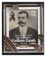2019 MÉXICO  Centenario Luctuoso Del General Emiliano Zapata 1919-2019, MNH  EMILIANO ZAPATA Death Centenary MNH - Mexico