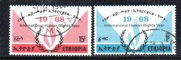 APR852 - ETIOPIA 1968 ,  Serie Yvert N. 505/506  Usata (2380A) Diritti Uomo - Etiopia