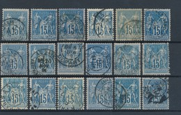 FRANCE - N°YT 90X18 OBLITERES - COTE YT : 36€ - 1878 - 1876-1898 Sage (Type II)