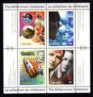Canada 1999 2000 R The Millennium Collection Sc#1818 MNH Souvenir Sheet Radio Film Imax Cinema Kino Computer Inventions - Musica