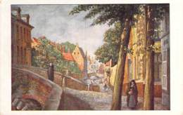 BELGIQUE Belgium ( Flandre Occidentale ) BRUGGE BRUGES : Quai Espagnol - CPA Illustration Colorisée - Belgien België - Brugge