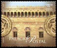 2016 MÉXICO Palacio Postal, ARQUITECTURA  MNH Postal Palace, MAIN POSTAL OFFICE,  ARCHITECTURE, ARC, Decorative Details - Messico