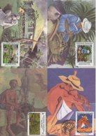 Polynesie - Carte Maximum - 1995 - N°494 à N°497 - Artisstes Peintres - Cartes-maximum