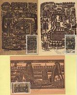Polynesie - Carte Maximum - 1989 - N°347 à N°349 - Legendes Polynesiennes - Cartes-maximum