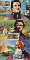 Polynesie - Carte Maximum - 1987 - N°292 à N°294 - Grands Missionnaires Catholiques - Cartes-maximum