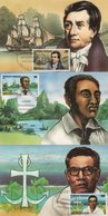 Polynesie - Carte Maximum - 1988 - N°318 à N°320 - Grands Missionnaires Protestants - Cartes-maximum