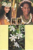 Polynesie - Carte Maximum - 1990 - N°371 à N°373 - Le Tiare Tahiti - Cartes-maximum