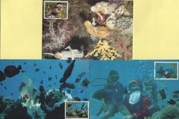 Polynesie - Carte Maximum - 1991 - N°396 à N°398 - Noel Sous La Mer - Cartes-maximum