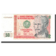 Billet, Pérou, 50 Intis, 1987, 1987-06-26, KM:131b, NEUF - Peru