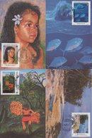 Polynesie - Carte Maximum - 1994 - N°468 à N°471 - Peintres En Polynesie - Cartes-maximum