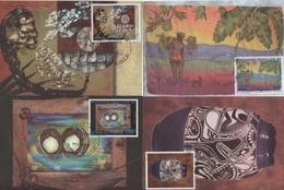 Polynesie - Carte Maximum - 1997 - N°549 à N°552 - Artistes En Polynesie - Cartes-maximum