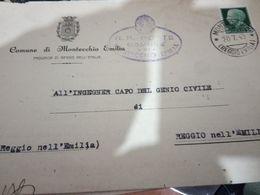 MONTECCHIO EMILIA PIEGO COMUNE X GENIO CIVILE  FIRMA PODESTA. VB1948 20 LUGLIO 1943  HD10400 - Reggio Nell'Emilia
