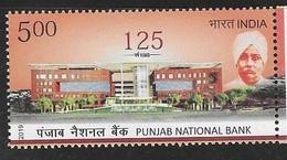 INDIA, 2019, MNH, FINANCE, ARCHITECTURE, PUNJAB NATIONAL BANK,1v - Architecture