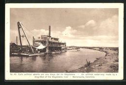 AK Barranquilla, Cano Artificial Abierto Por Una Draga Del Rio Magdalena - Kolumbien