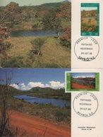 Nouvelle Caledonie - Carte Maximum - 1986 - N°525 à N°526 - Paysages Caledoniens - Maximumkaarten