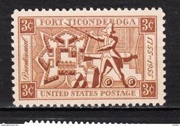 USA, MNH, Fort Ticonderoga, Militaria, Canon, Poudre à Canon, Gunpowder - Militaria