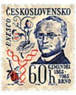 Ref. 98960 * MNH * - CZECHOSLOVAKIA. 1965. CENTENARY OF G.J. MENDEL . CENTENARIO DE G.J. MENDEL - Nuevos