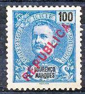 !■■■■■ds■■ L.Marques 1917 AF#150(*) Local Republica 100 Réis 11,5 (x2115) - Lourenco Marques