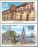 Ref. 303484 * MNH * - CHILE. 1991. 450 ANIVERSARIO DE LA CIUDAD DE SANTIAGO - Cile