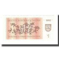 Billet, Lithuania, 1 (Talonas), 1992, KM:39, NEUF - Litouwen