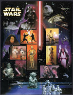 USA 2007 30th Anniv Star Wars Souvenir Sheet Unmounted Mint. - United States