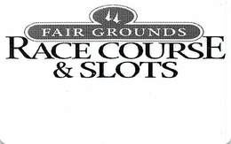 Fair Grounds Race Course & Slots Card - New Orleans LA - Casinokarten
