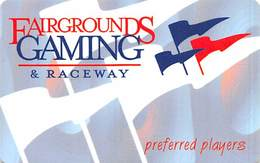 Fairgrounds Gaming & Raceway Hamburg NY BLANK Slot Card - Casinokarten