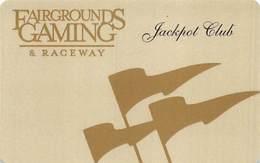 Fairgrounds Gaming & Raceway Hamburg NY BLANK Jackpot Club Slot Card - Casinokarten